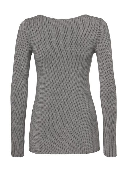 women's thermal T-shirt grey melange grey melange - 1000002008 - hema