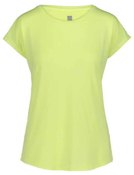women's sports shirt - loose fit yellow yellow - 1000019317 - hema