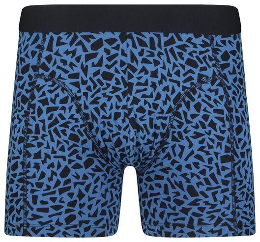 men's boxers long cotton stretch blue blue - 1000018780 - hema