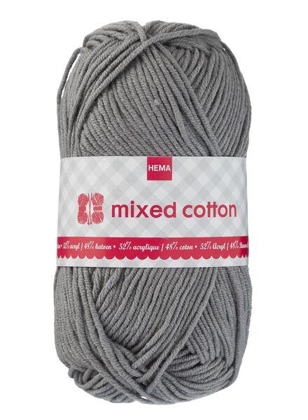 fil à tricoter coton mélangé - gris - 1400158 - HEMA