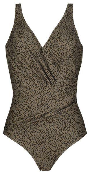 Bademode - HEMA Damen Badeanzug, Figurformend, Animal Beige  - Onlineshop HEMA