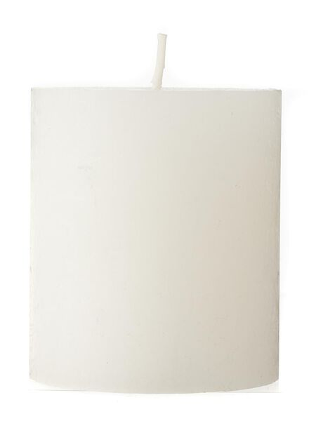 bougie rustique - 8x7 cm - blanc - 13500603 - HEMA