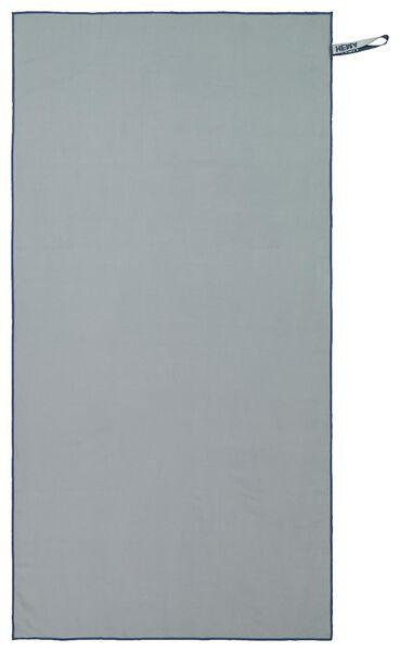 serviette de bain microfibre 110x175 gris - 5290061 - HEMA