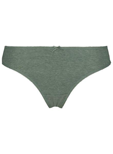 3-pack women's thongs cotton multi multi - 1000014499 - hema
