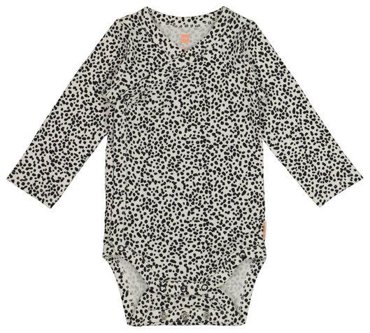 Baby-Wickelbody mit Bambus, elastisch schwarz schwarz - 1000017646 - HEMA