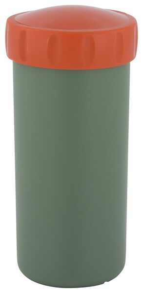 drinking cup with lid 300 ml green/red - 80600113 - hema