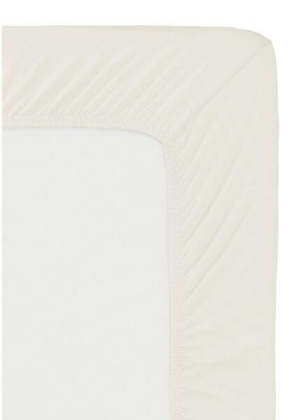 drap-housse - jersey coton - 140x200 cm - écru écru 140 x 200 - 5140063 - HEMA