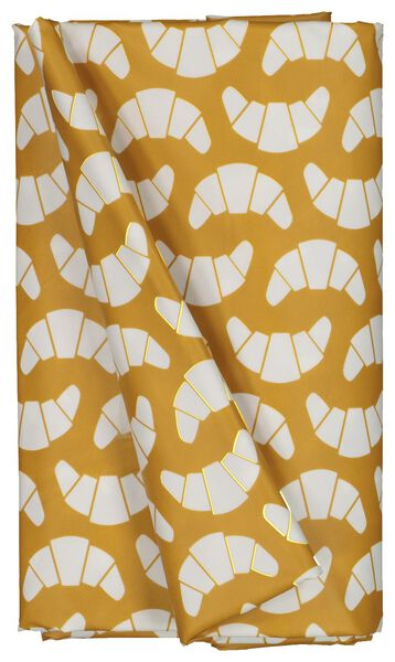 table oil-cloth 140x240 polyester - croissants ochre/white - 5390005 - hema