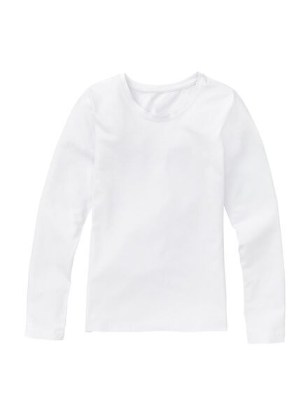 girls stretch t-shirt white white - 1000005547 - hema