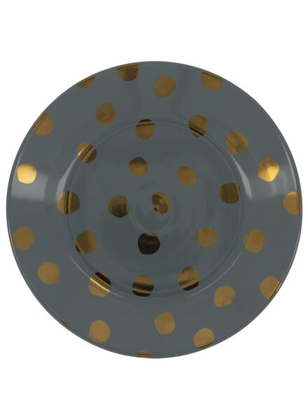 side plate - 17 cm - Bergen - green with gold-coloured dot - 9602086 - hema