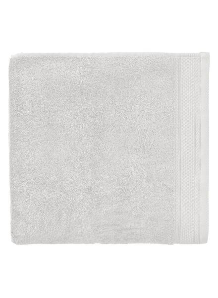 serviette de bain - 100 x 150 cm - qualité hôtel très épaisse - gris clair uni - 5290054 - HEMA