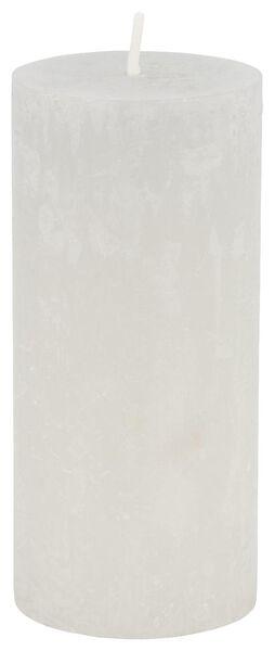 rustic candle - 5x11 - light grey - 13502432 - hema