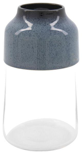 HEMA Vase, Ø 13 X 23 Cm, Glas/Keramik