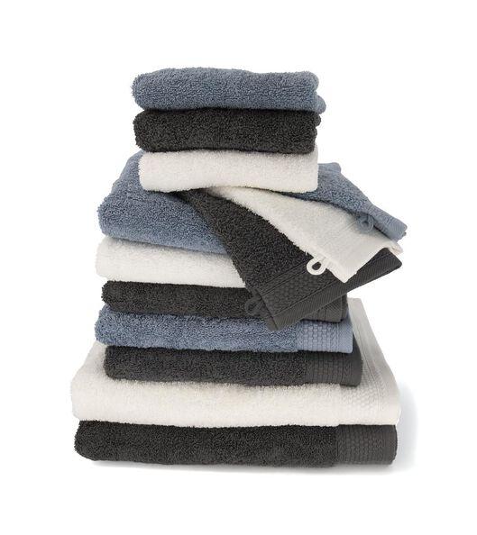 handdoek - 70 x 140 cm - hotel extra zwaar - blauw - 5220047 - HEMA