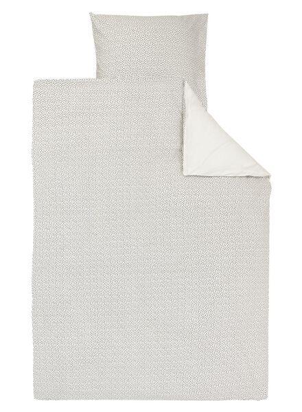 housse de couette-coton doux-140x200/220cm-blanc pois - 5700167 - HEMA