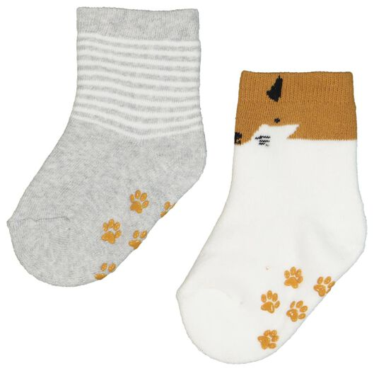 2-pack baby socks light grey light grey - 1000020278 - hema