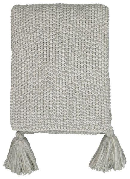 throw 130x150 - knitted - grey - 7322050 - hema