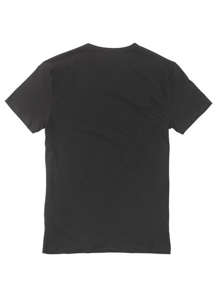 men's slim fit T-shirt extra long black black - 1000005992 - hema