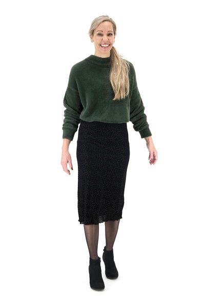 women's skirt black black - 1000017418 - hema