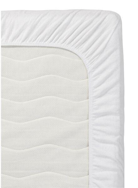 drap-housse surmatelas-jersey coton-140x200 cm-blanc blanc 140 x 200 - 5140110 - HEMA