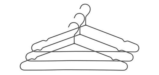 3er-Pack Kleiderbügel, Metall, schwarz - 39891029 - HEMA
