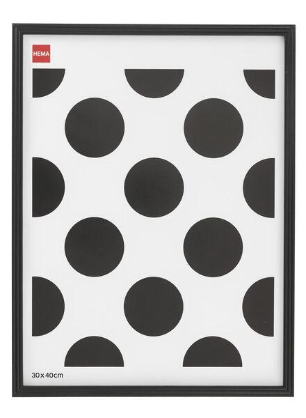 cadre photo 30 x 40 - bois noir 30 x 40 noir - 13691017 - HEMA