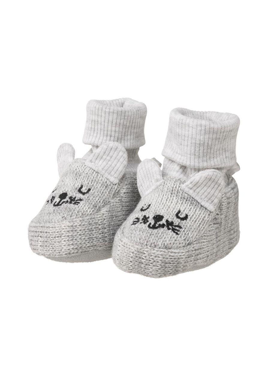 prix incroyable site officiel réel classé chaussons bébé gris