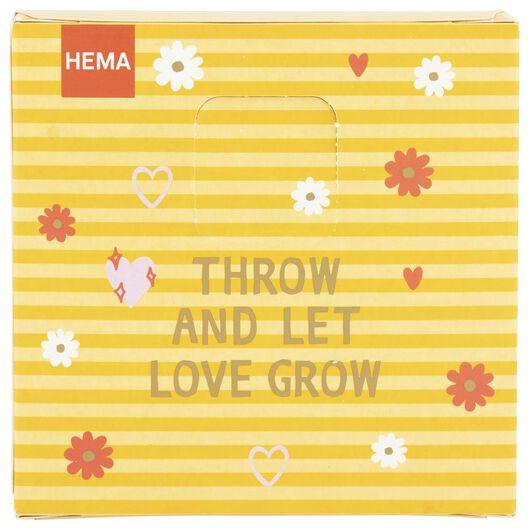 throw & grow confetti flower seeds - let love grow - 41810083 - hema