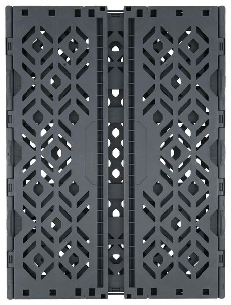 folding crate recycled - 39 x 29 x 15 cm - anthracite anthracite 39 x 29 x 15 - 39892913 - hema