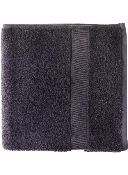 towel - 50 x 100 cm - heavy quality - dark grey dark grey towel 50 x 100 - 5212602 - hema