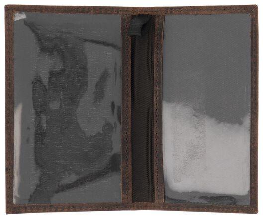 Fahrkartenhülle, RFID-Schutz, Leder, braun - 18120071 - HEMA
