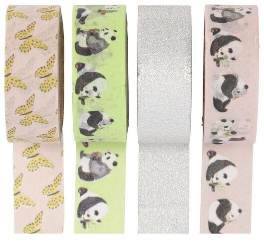 4 washi tapes panda - 14150039 - hema