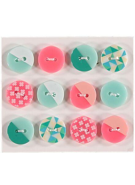 lot de 12 boutons graphiques - 1490121 - HEMA