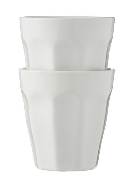 lot de 2 mugs de 9cl 9cl White - 9680041 - HEMA