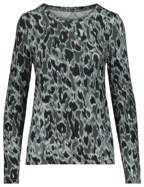 women's T-shirt dark green dark green - 1000017991 - hema