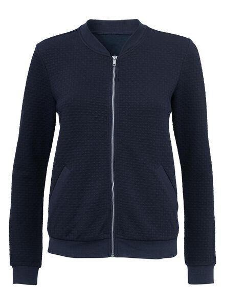 women's bomber jacket dark blue dark blue - 1000005425 - hema