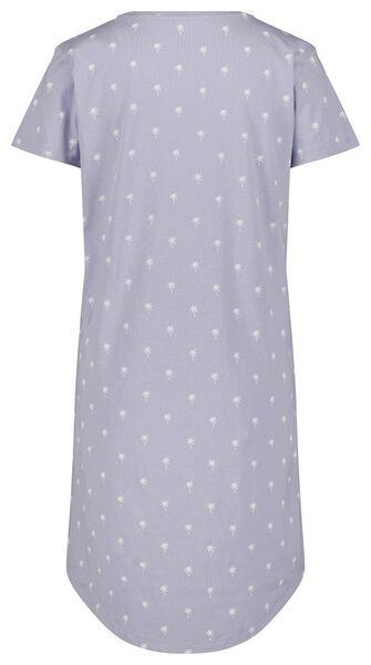 damesnachthemd palmboom lichtblauw - 1000024189 - HEMA