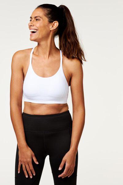 top de sport femme sport léger blanc blanc - 1000018881 - HEMA