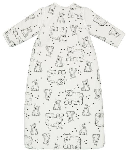 Baby-Schlafsack mit abnehmbaren Ärmeln, gepolstert, Bären, weiß eierschalenfarben eierschalenfarben - 1000020003 - HEMA