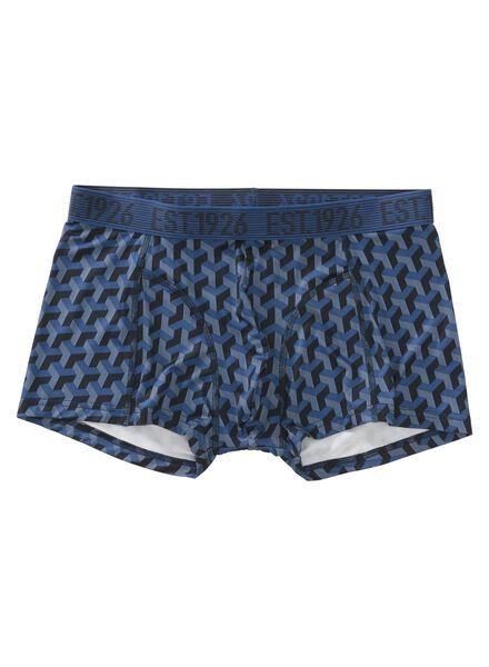 men's boxers - micro-fibre blue blue - 1000006500 - hema