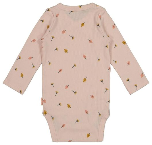 newborn wrap-around bodysuit with bamboo pink pink - 1000017639 - hema