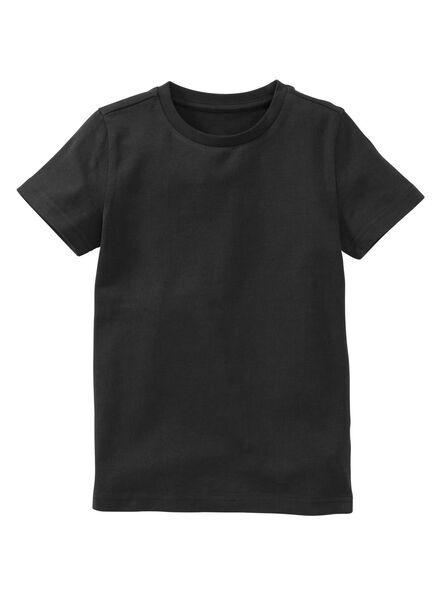 Kinder-T-Shirt, Biobaumwolle schwarz schwarz - 1000019373 - HEMA