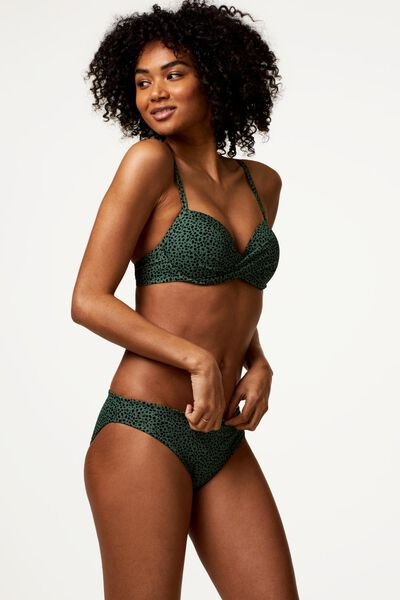 Bademode - HEMA Damen Bikinislip, Animal Graugrün  - Onlineshop HEMA