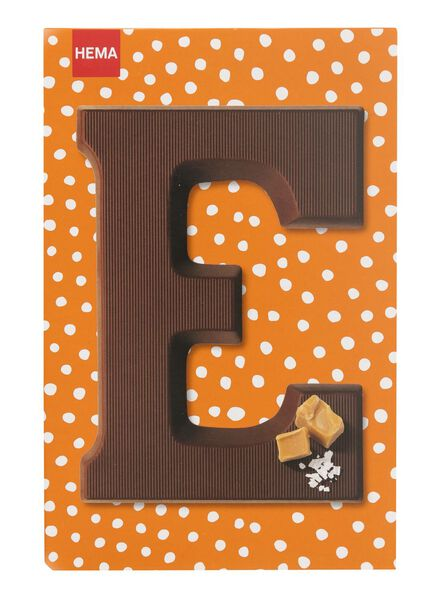 caramel sea salt milk chocolate letter E - 10039005 - hema