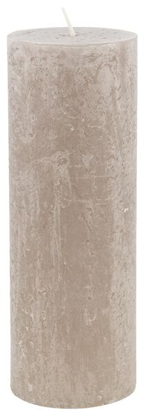 rustic candle - 7x19 - taupe - 13502437 - hema