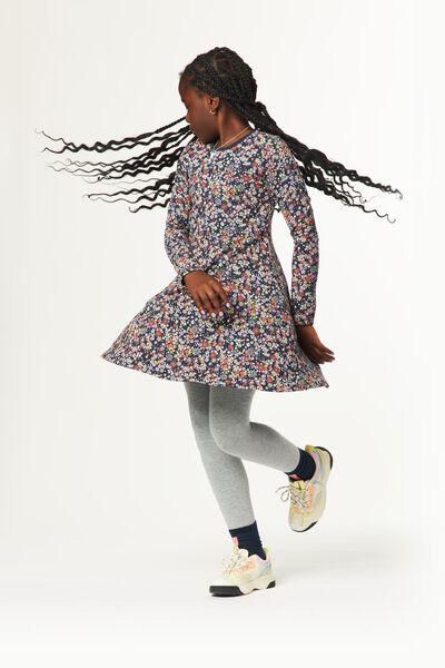 Kinder-Kleid, Blumen dunkelblau dunkelblau - 1000024705 - HEMA