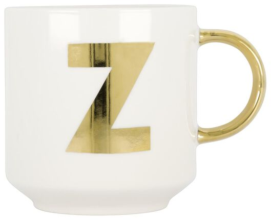 Becher, Keramik, weiß/gold, 350 ml, Z - 61120121 - HEMA