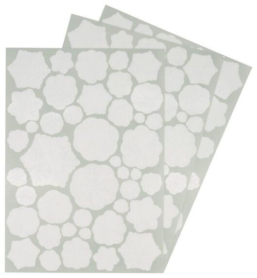 3 Blatt Fenster-Aufkleber 42x29,7, Schneeflocken - 25300049 - HEMA