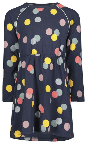 Kinder-Kleid, Punkte dunkelblau - HEMA