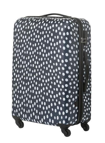 suitcase 67 x 44 x 25 - dark blue polka-dot 67 x 44 x 25 blue - 18690041 - hema